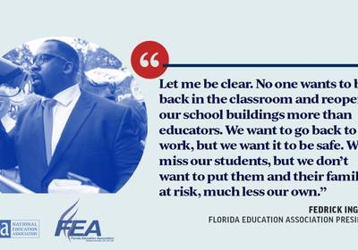 Florida teachers union head says, 'We don't want to be the petri dish for America'